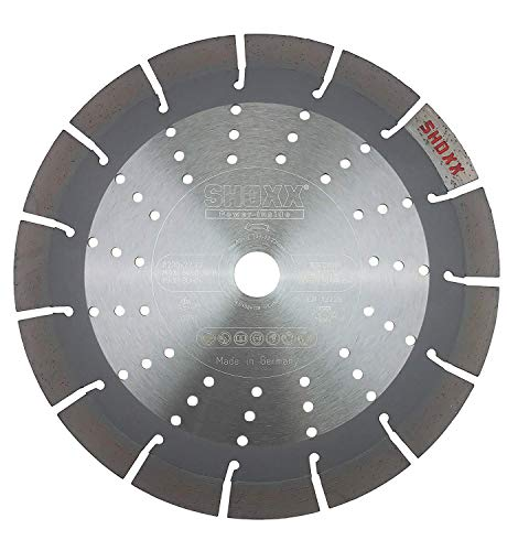 PRODIAMANT Profi Diamant-Trennscheibe Beton / Granit Oxx 230 mm x 22,2 mm Diamanttrennscheibe PDX82.118 230mm für Naturstein, Betonprodukte, mittelharte bis harte Materialien passend für Winkelschleifer