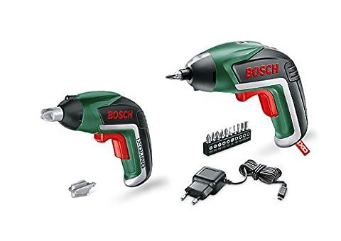 Bosch DIY Familien-Set, Akku-Schrauber IXO mit Spielzeugschrauber IXOlino, 10 Schrauberbits, USB-Ladegerät, Karton (3,6 V, 1,5