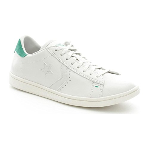 Converse Pro Leather Lp Ox, Sneakers Homme Blanc (White Dust/b.green)