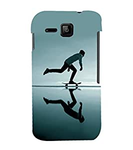 printtech Skateboard Man Mirror Back Case Cover for Micromax Bolt S301