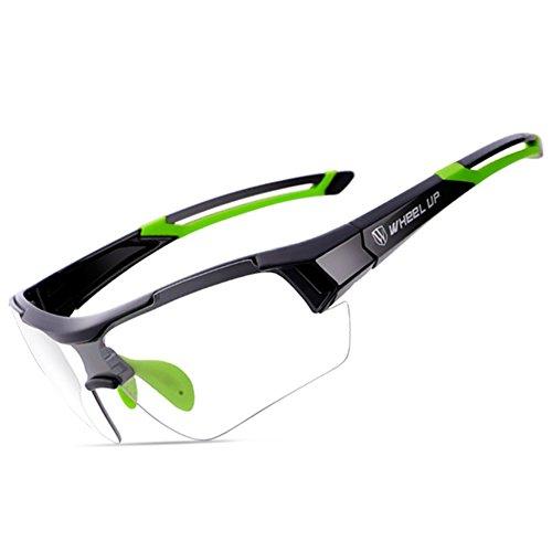 sue Mountainbike Verfärbung Radsport-Brillen Herren Damen Polarisiertes Licht Fahrrad Im Freien Sport-Sonnenbrillen UV-Schutz HD PC Augenschutz Reiten Fahren Gläser, Green