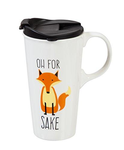 Cypress Home OH für Fox Sake unterwegs aus Keramik Kaffee Tasse, 17Unzen (Home Deckel Cypress Becher)