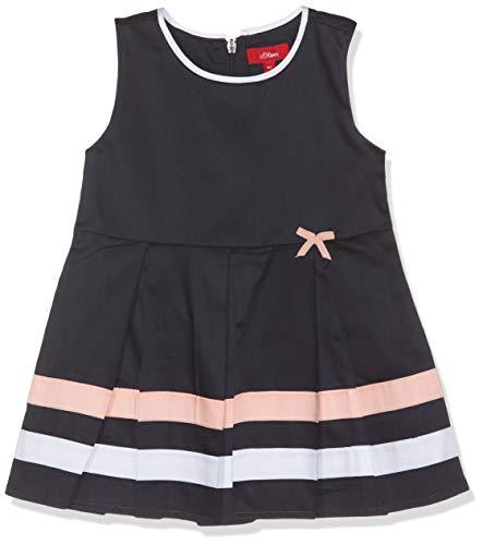 s.Oliver Baby-Mädchen Kleid 65.903.82.5780 Blau (Dark Blue 5874), Herstellergröße: 80