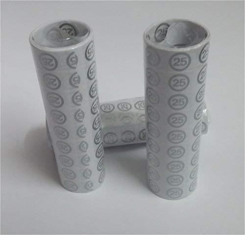 e Hochzeit Deko Luftschlangen Papierschlangen mit Zahl 25 Dekoration zur Silberhochzeit oder zum 25.Geburtstag Party oder andere Anlässe ()