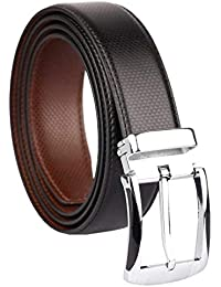 Axe Style Boy's Casual & Formal PU Leather Reversible Belt Black/Brown (Size 28-44 Cut to fit men's Belt)