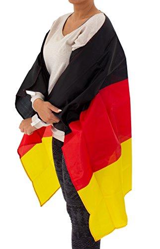 Umhang Fußball WM Länder Cape Deutschland Flagge Unisex (Flagge Kleid)