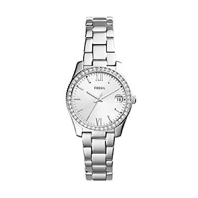 Fossil Reloj Analogico para Mujer de Cuarzo con Correa en Acero Inoxidable ES4317