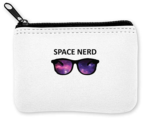 Space Nerd Cool Hipster Glasses Münzen Reißverschluss Geldbörse