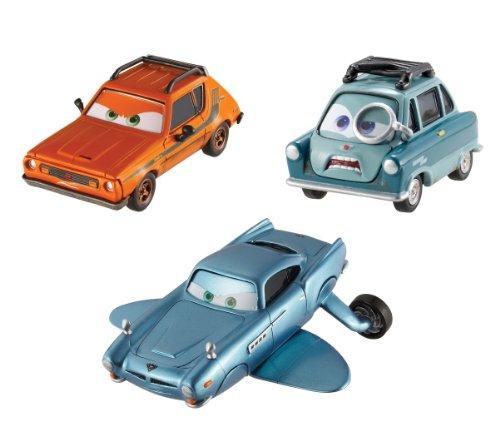 Disney Cars 2 - Juego de 3 coches en miniatura, submarino Finn McMissile, Profesor Z y Grem (Mattel V6747)