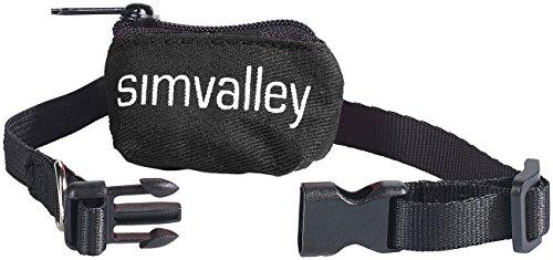simvalley MOBILE Zubehör zu GSM Tracker: Katzenhalsband schwarz für GPS-/GSM (GPS Diebstahlschutz Ortungsgerät)