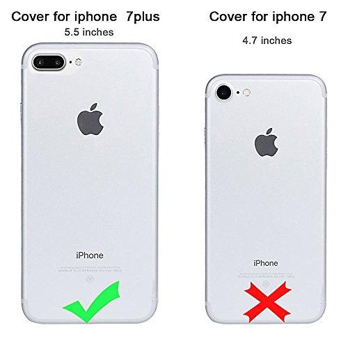 Super Clear Protettore Custodia in Soft TPU Silicone per Apple iPhone 7Plus 5.5(NON iPhone 7 4.7), CLTPY Creativo Cute Cartone Animato Fiore Pattern Disegno Serie Ultra Sottile Leggero Flessibile Mo Corona Ragazza