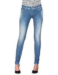 Salsa - Jeans Push Up Wonder, taille moyenne, jambe skinny et délavage premium - Femme