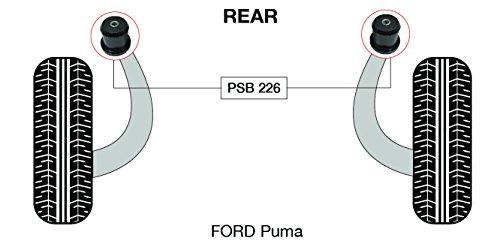 PSB polyuréthane Bush Puma essieu arrière Faisceau bushing kit 1997-2001 (PSB 226)