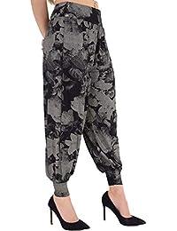 Nouveau haut femmes froncé drapé baggy sarouel pantalon lagenlook alibaba Vêtements, accessoires Femmes: vêtements