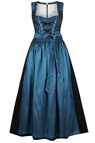 Damen Stützle Dirndl lang festlich blau, blau, 38