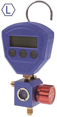 Monteurhilfe Anschluss 1/4' SAE digital psi/bar/MPa/kPa HS-417A-5100L R22/R134a/R404a/R407c/R502/R410a 3 x Batterie 1,5V AAA -