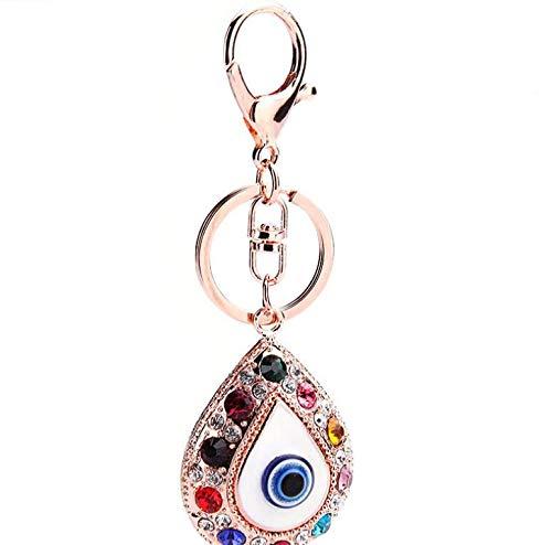 Llavero con ojo de gota de agua, color azul turco, para mujer, bolso de mano, llavero (colorido)