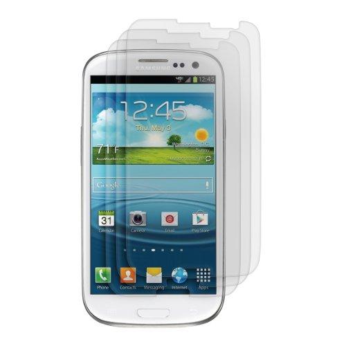 kwmobile 3X Folie matt für Samsung Galaxy S3 / S3 Neo Bildschirmschutzfolie - Schutzfolie Anti-Fingerabdruck Bildschirmschutz Bildschirmfolie entspiegelt