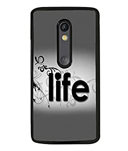 printtech Life Quote Back Case Cover for Motorola Moto G Turbo Edition