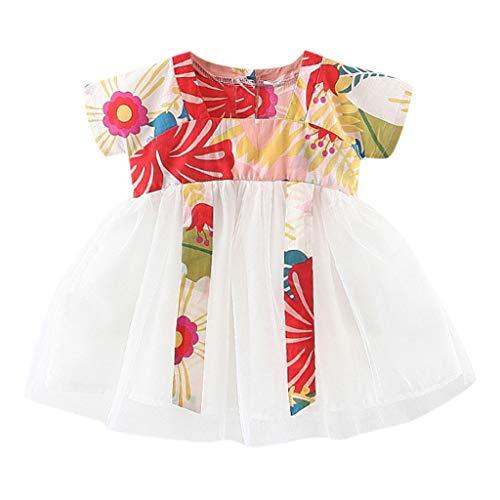 squarex Sommer Kleinkind Baby Kinder Mädchen Kinder Kurzarm Floral Stitching Tüll Kleid Prinzessin Kleider Kleidung Cute Comfortable