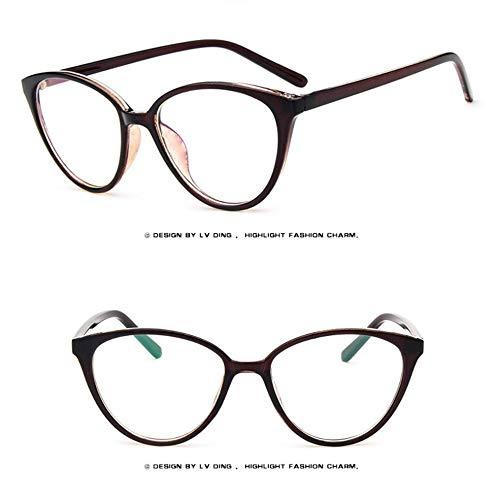 CHOULI 2360 Retro cat Eye Glasses Frame Sun Glasses for Women Lady Topping Tea