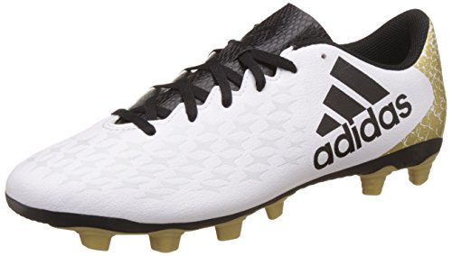 adidas X 16.4 Fxg, Chaussures de Foot Homme Blanc (Ftwr White/Core Black/Gold Met.)