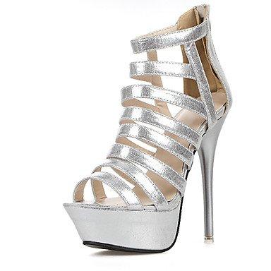 LvYuan Da donna-Sandali-Formale-Club Shoes-A stiletto-PU (Poliuretano)-Argento Dorato Silver