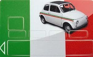 stickers, autocollants, adhésifs carte bancaire motif drapeau ITALIE -- FABRICATION FRANCAISE --