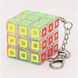 NFHNBABO El Cubo De Rubik Mini Magic Cube Keychain Smart Cube Toy Keychain 3X3X3 Cubo De Juguete para Niños