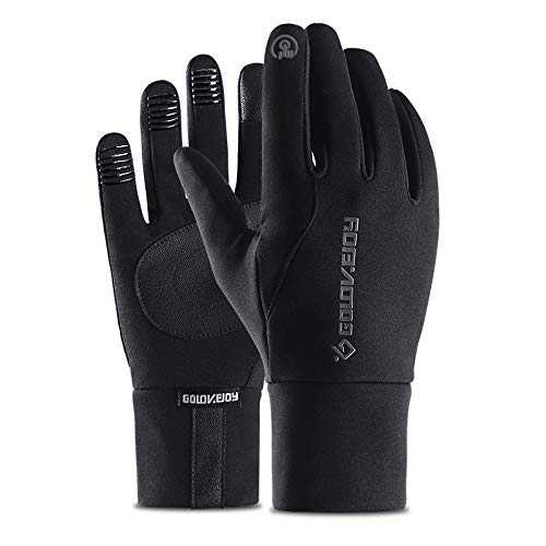 Chongshang Sporthandschuhe Winter Warm-up Outdoor Handschuhe Radfahren Handschuhe Anti-Wind Touchscreen Plus samt rutschfest wasserdicht All-Finger-Handschuhe Tauchen Tuch Material Palmbreite 8cm-9cm