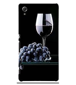 Wine at Dine 3D Hard Polycarbonate Designer Back Case Cover for Sony Xperia Z3+ :: Sony Xperia Z3 Plus :: Sony Xperia Z3+ dual :: Sony Xperia Z3 Plus E6533 E6553 :: Sony Xperia Z4