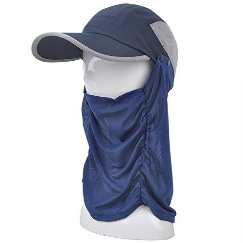 chapeaux été/Outdoor capuchon de protection UV couvrant son visage/chapeau de soleil/Chapeau de soleil/chapeau/bouchon de vélo C
