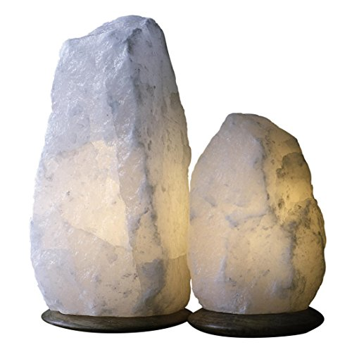 Magic salt blanco Lámpara de sal himalaya lámpara natural cristal rock sal lámpara (White 7-9 kg)