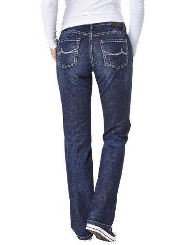 Pioneer Damen Straight Leg Jeans SALLY Blau (dark blue used 667)