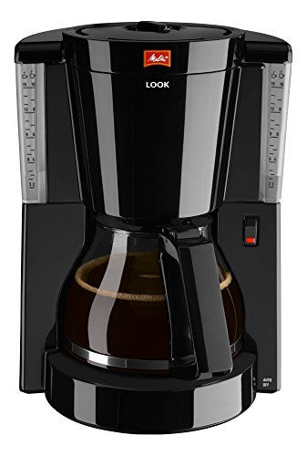 Melitta 1011-02 Look Kaffeefiltermaschine -Tropfstopp - Glaskanne schwarz