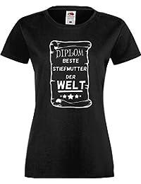Lady T-Shirt Diplom Beste Stiefmutter der Welt