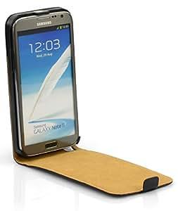 Galaxy Note 2 Echtleder Tasche Lederhülle Flip Case Echt Leder Samsung