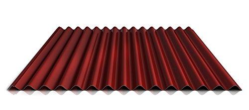 Wellblech | Profilblech | Dachblech | Profil PS18/1064CR | Material Stahl | Stärke 0,45 mm | Beschichtung 25 µm | Farbe Rot