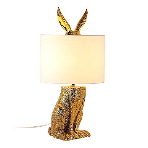 LZDHY Gold Tischlampe Tuch Lampenschirm Kreative Art Deco Home Restaurant Bar Kaffee Nacht Beleuchtung Schreibtisch Licht