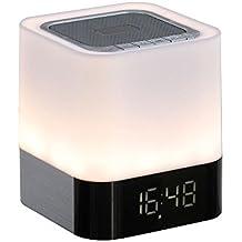 Radio despertador lámpara LED compatible con Bluetooth®
