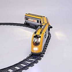 TETAKE Kit de LED Éclairage Jeu De Lumières pour Lego City Train de passagers télécommandé 60197 (Lego Modèle Non Incluse)