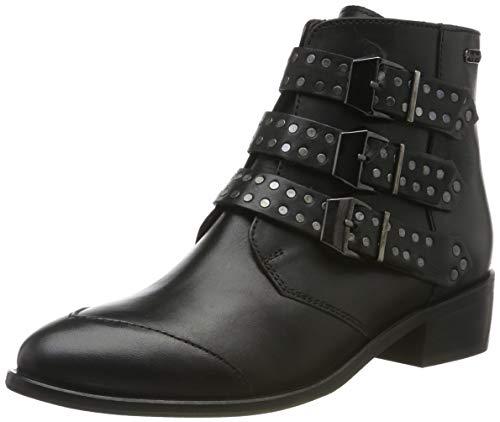 Pepe Jeans London Chiswick Lessy, Botines para Mujer, Black 999, 37 EU