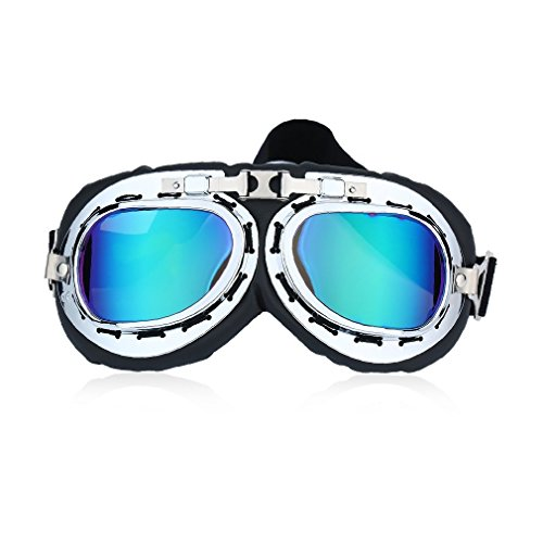 24668cef13 Yogasada Vintage Anti-UV Motorcycle Scooter Pilot Goggles Helmet Glasses  Motocross