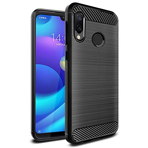 Ferilinso Cover for Xiaomi Redmi 7 PRO / Xiaomi Mi Play, Protective Shockproof Case Protective Shockproof Case in Carbon Fiber (Black)