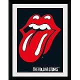 1art1 100254 Rolling Stones - Lips Gerahmtes Poster Für Fans Und Sammler 40 x 30 cm