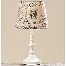 lampara de mesilla de noche 38cm Color Pie Blanco Tulipa Carta