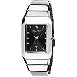 Square steel watch/Casual fashion quartz watch/Men and women couples form-B