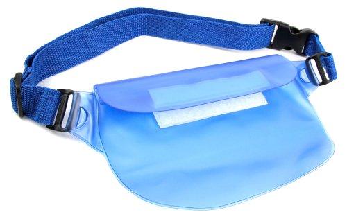 DURAGADGET® Wasserdichte Gürteltasche in Blau für BQ Aquaris X5 Cyanogen Edition | Aquaris M4.5 | Aquaris M5 | M5.5 Smartphones - Perfekt für den Sommer!