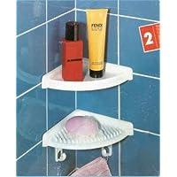 wenko 3361510100 duschboard duschablage eckablage badablage zum kleben oder schrauben 2er set 255x17x3cm wei - Duschablage Kunststoff