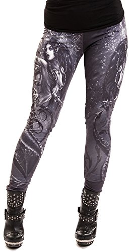 Alchemy Black -  Leggings  - Donna nero Large